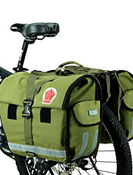 cheap -ROSWHEEL Bike Bag 45L Panniers & Rack Trunk Moistureproof/Moisture Permeability Waterproof Waterproof Zipper Wearable Bicycle Bag Canvas