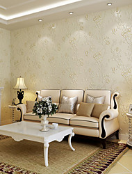 cheap -Floral Home Decoration Contemporary Wall Covering, Non-woven Paper Material Wallpaper, Room Wallcovering