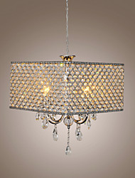 cheap -Chandelier ,  Modern/Contemporary Drum Painting Feature for Crystal Metal Living Room Bedroom Dining Room