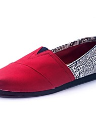 abordables -Femme Chaussures Toile Printemps Eté Automne Confort Talon Plat pour De plein air # 5 # 6 # 7 # 8 Corail