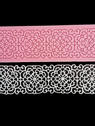 Недорогие -кружева цветок границы силиконовый торт плесень деко