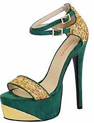 お買い得  -女性用 靴 フリース 春 夏 スティレットヒール のために オフィス&キャリア ドレスシューズ パーティー ブラック レッド グリーン