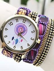 gogo kvinders analog quartz afslappet armbånd ur (assorterede farver)