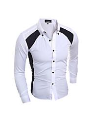 preiswerte -Informell / Business Hemdkragen - Langarm - MEN - Freizeithemden ( Baumwolle )