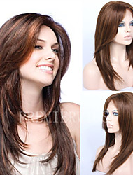 cheap -premierwigs 8a 8 26 layered straight brazilian virgin glueless full lace human hair wigs glueless lace front wigs