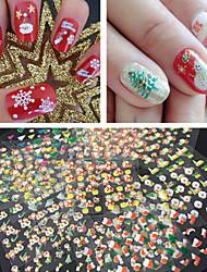 30 Sticker Manucure  Autocollants 3D pour ongles Bande dessinée Abstrait Adorable Maquillage cosmétique Manucure Design