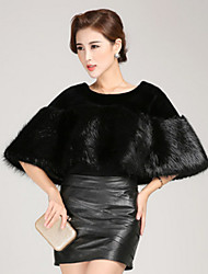 cheap -Women's Vintage Faux Fur Cloak/Capes-Solid Colored,Pure Color