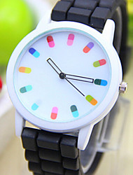 cheap -Fashion Women Silicone Geneva Watch Candy Color Quartz Watch Women Dress Watch Relogio Feminino Cool Watches Unique Watches