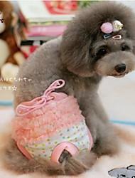 Gatti / Cani Pantalone Giallo / Rosa Abbigliamento per cani Primavera/Autunno A pois Matrimonio / Cosplay