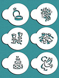 cheap -Valentine's Gift Wedding Cookie Stencil Set for Cake Decorating,ST-687