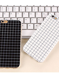 cheap -The Simple Black and White Color Matt Small Lattice TPU Cases for iPhone 7 7 Plus 6s 6 Plus