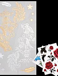 economico -Tatuaggi adesivi - Serie gioielli - AML - Da donna/Da uomo/Adulto/Teen - 4 - Modello - di Carta - 20*9*0.1cm - Oro/Multicolore/Argento -