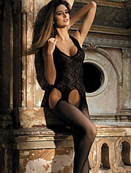 Women's Seductive Halter Lace Crotchless Bodystocking Nightwear