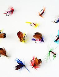 12 штук Мухи Рыболовная приманка Мухи Ассорти из цветов г/Унция мм дюймовый,Металл Ловля нахлыстом
