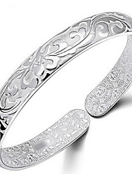cheap -Women's Bangles - Sterling Silver Flower Bracelet Silver For Daily / Casual / Sports