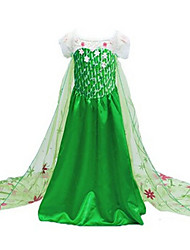 cheap -Princess Elsa Movie/TV Theme Costumes Cosplay Costume Party Costume Children's Christmas Halloween Children's Day Festival / Holiday