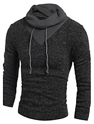 cheap -Men's Weekend Active Long Sleeves Wool Long Pullover - Animal Round Neck