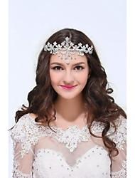 abordables -alliage en argent sterling tiaras bandeau style féminin classique