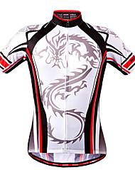 WOSAWE Maglia da ciclismo Unisex Manica corta Bicicletta Maglietta/Maglia Felpa Top Asciugatura rapida Elastico Poliestere Di tendenza