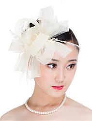 Недорогие -перьевый полиэфир факсимизер головной убор классический женский стиль