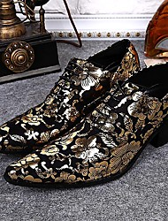 cheap -Men's Shoes Amir Limited Edition Oriental Temperament Wedding/Party & Evening Leather Oxfords Gold