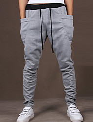 cheap -Men's Active Cotton Slim Active / Relaxed / Sweatpants Pants - Solid Colored Artistic Style / Sports / Weekend