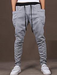 economico -Per uomo Vita normale Attivo Elasticizzato Attivo Pantaloni della tuta Comodo Pantaloni, Tinta unita Cotone Poliestere Non disponibile