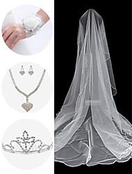 accessoires de mariage set (voile& poignet corsage& coiffure& collier& boucles d'oreilles)