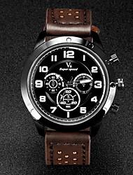 preiswerte -V6 Herrn Armbanduhr Quartz Japanischer Quartz Leder Band Schwarz Braun Khaki