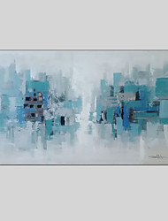 cheap -Modern Abstract Hand Painted Oil Painting on Canvas with Frame