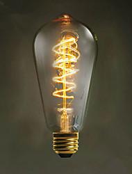 e27 40w g80 droite fil restaurant hôtel balle edison rétro ampoule décorative