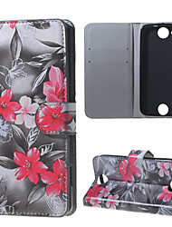 cheap -For Acer Case Case Cover Wallet Card Holder with Stand Flip Pattern Case Flower Hard for Acer