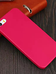 caso da tampa do couro suave de volta para o iPhone 5 / 5s
