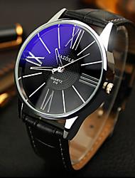 Недорогие -Муж. Нарядные часы Защита от влаги Кожа Группа Черный / Коричневый