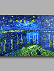 Hand-Painted Abstract Oil Painting Canvas Van Gogh repro Starry Night Over Rhone Home Deco one Panel