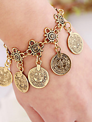 cheap -MPL European and American fashion retro fringe Coin Bracelet explosion