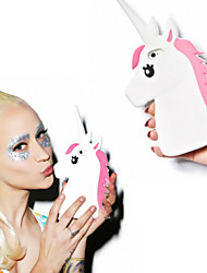 Fashion 3D Unicorn Design Protective Silicone Shell Cover for 6 6s SE 5s 5