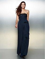 cheap -A-Line Strapless Floor Length Chiffon Formal Evening Dress with Beading by TS Couture®