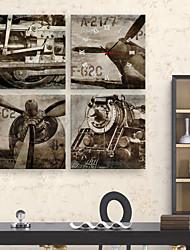 Недорогие -старинные самолеты и поезда часы в брезентовых 4шт