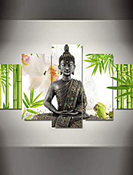 Religião e Espiritualidade Impressão em tela 5 Painéis Pronto para pendurar , Horizontal