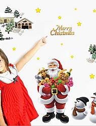 Недорогие -съемный веселый рождественский Санта-Клаус домашний декор искусство винил стены стикер