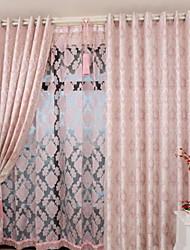 Недорогие -2 шторы Окно Лечение Деревня / Неоклассицизм / европейский Спальня Полиэстер/хлопок материал Шторы занавески затемнения Украшение домаFor