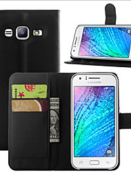 cheap -SHI CHENG DA Case For Samsung Galaxy Samsung Galaxy Case Wallet / Card Holder / with Stand Full Body Cases Solid Colored PU Leather for J7 (2016) / J7 / J5 (2016)