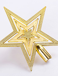 "cheap -5PCS/SET 15CM/6"" Christmas Tree Ornaments Outdoor Decorations Golden Star New Year Decoration Party Supplies Pendant"