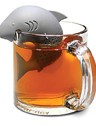 cheap -Silicone Shark Tea Infuser Loose Leaf Tea Strainer Herbal Spice Filter