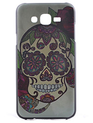 cheap -Case For Samsung Galaxy Samsung Galaxy Case Pattern Back Cover Skull PC for J7 / J5 / J1