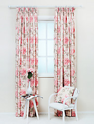 cheap -Rod Pocket Grommet Top Tab Top Double Pleat Pencil Pleat Two Panels Curtain Designer Country Modern Neoclassical Mediterranean Rococo