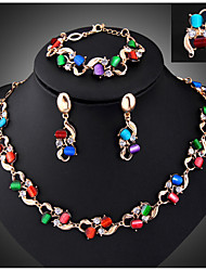 cheap -Women's Cubic Zirconia Jewelry Set Bracelet / Earrings / Necklace - Vintage / Party / Fashion Screen Color Jewelry Set For Party /
