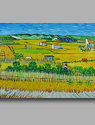 Dipinta a mano Astratto / Paesaggi astrattiModern Un Pannello Tela Hang-Dipinto ad olio For Decorazioni per la casa