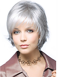 cheap -Synthetic Wig Wavy Synthetic Hair White Wig Women's Short Halloween Wig / Carnival Wig Capless